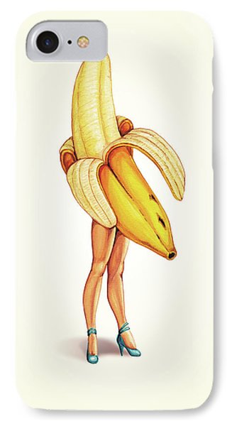 Fruit Stand - Banana IPhone 7 Case by Kelly Gilleran