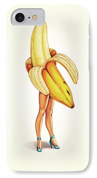 Fruit Stand - Banana IPhone Case by Kelly Gilleran