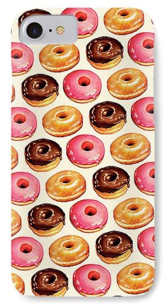 Donut Pattern IPhone Case