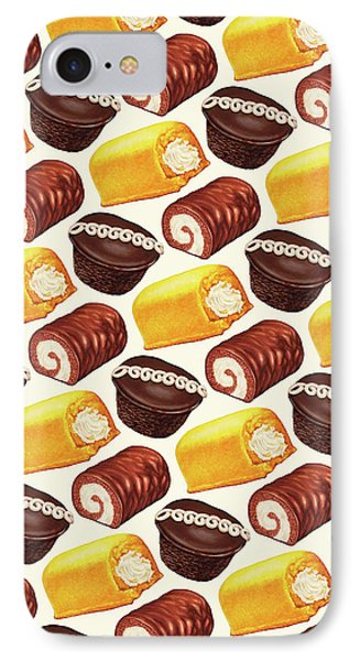 Hostess Cakes Pattern IPhone Case by Kelly Gilleran