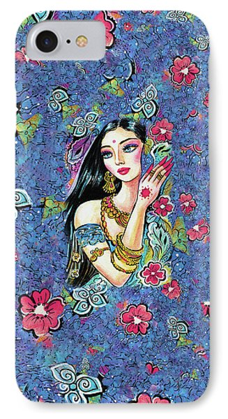 IPhone 7 Case featuring the painting Gita by Eva Campbell