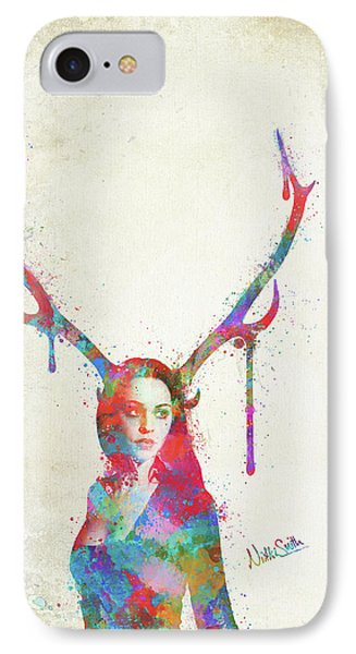Song Of Elen Of The Ways Antlered Goddess IPhone Case by Nikki Marie Smith