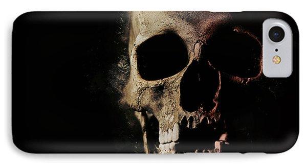 Male Skull With Missing Teeth IPhone Case by Jaroslaw Blaminsky