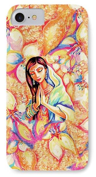 IPhone 7 Case featuring the painting Little Himalayan Pray by Eva Campbell
