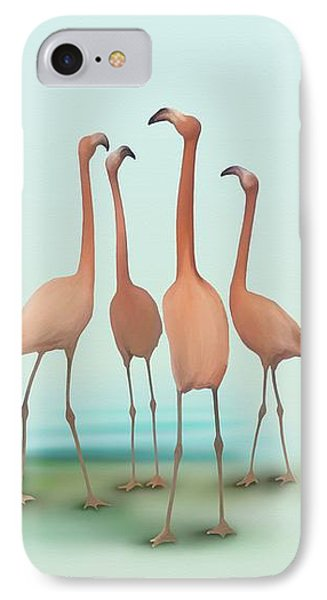 Flamingo Mingle IPhone Case by Ivana Westin