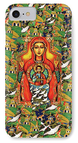 IPhone 7 Case featuring the painting Our Lady Of The Sign by Eva Campbell