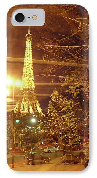 Eiffel Tower By Bus Tour IPhone Case