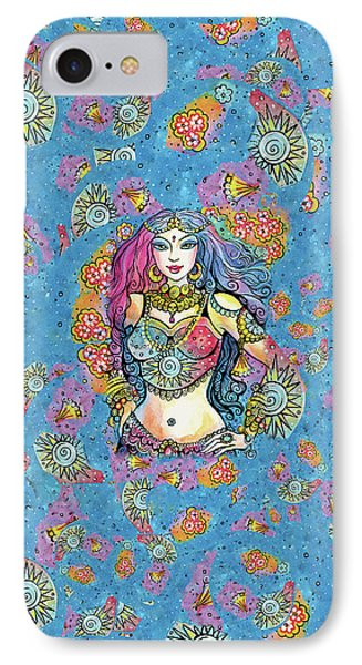 IPhone 7 Case featuring the painting Kali by Eva Campbell