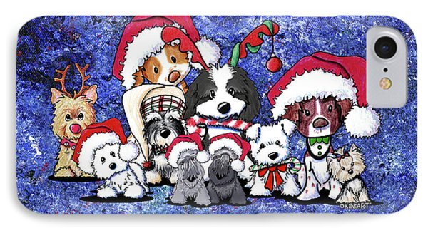 Kiniart Christmas Party Phone Case by Kim Niles