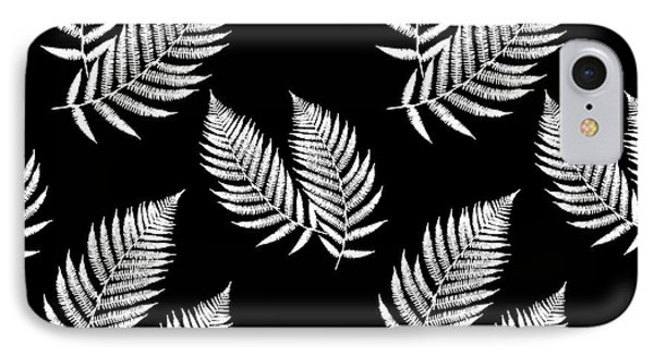 Fern Pattern Black And White IPhone Case