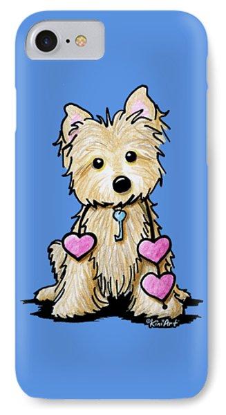 Heartstrings Cairn Terrier Phone Case by Kim Niles