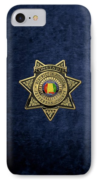 Jefferson County Sheriff's Department - Constable Badge Over Blue Velvet IPhone Case