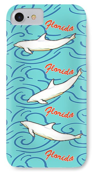 Florida Dolphin Print IPhone Case by Methune Hively