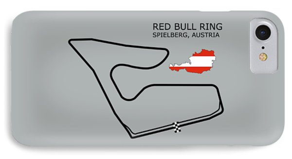 The Red Bull Ring IPhone Case by Mark Rogan