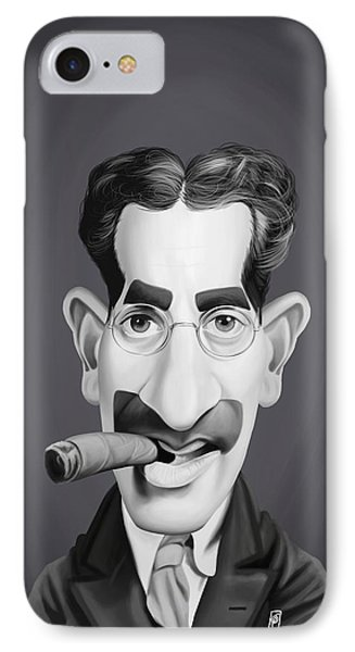 Celebrity Sunday - Groucho Marx IPhone Case by Rob Snow