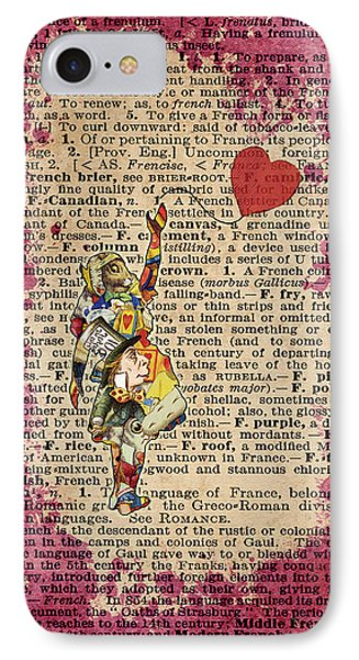 Vintage Alice In Wonderland Collage Who In The World Am I Quote IPhone Case by Jacob Kuch