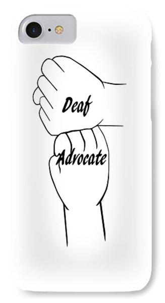 Deaf Advocate IPhone Case
