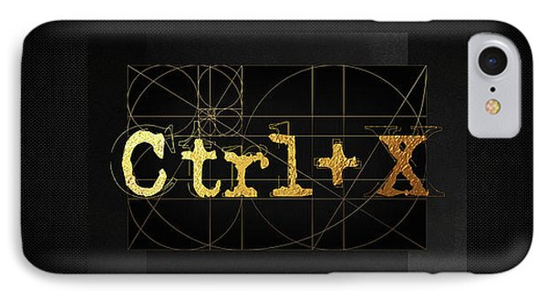IPhone Case featuring the digital art Control X - Cut by Serge Averbukh