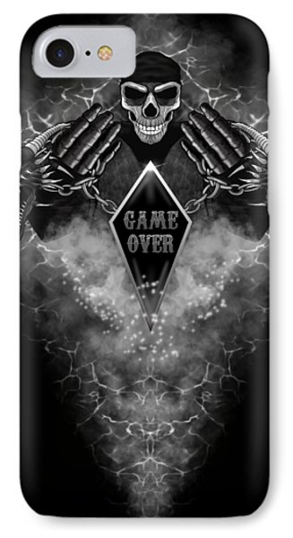 IPhone Case featuring the digital art Game Over by Raphael Lopez