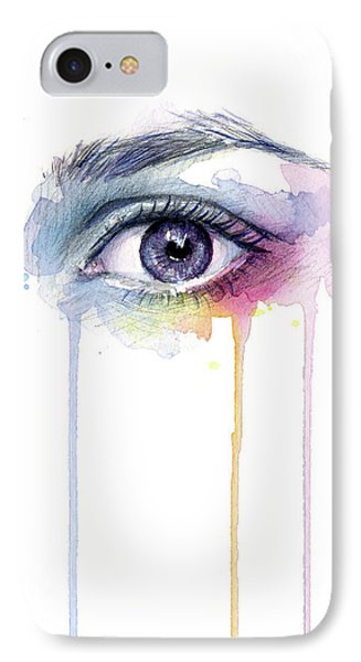 Colorful Dripping Eye IPhone Case by Olga Shvartsur