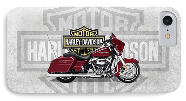 IPhone Case featuring the digital art 2017 Harley-davidson Street Glide Special Motorcycle With 3d Badge Over Vintage Background  by Serge Averbukh