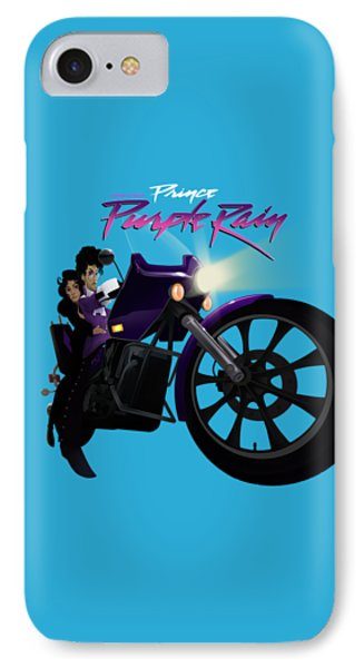 IPhone Case featuring the digital art I Grew Up With Purplerain by Nelson dedos Garcia