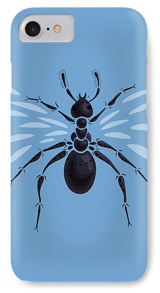 Abstract Winged Ant Phone Case by Boriana Giormova