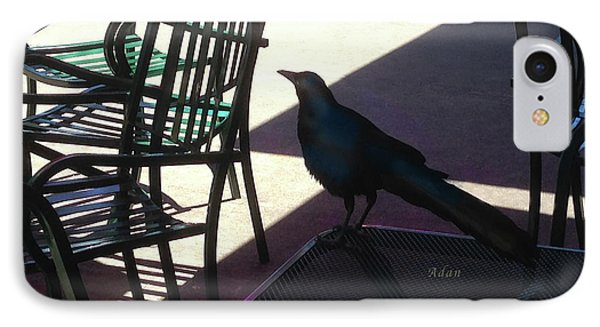 Black Bird At Central Market Phone Case by Felipe Adan Lerma