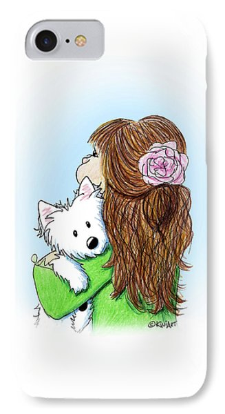 Can I Keep Him? IPhone Case by Kim Niles