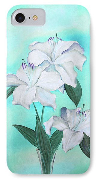 IPhone Case featuring the mixed media Blue And White by Elizabeth Lock