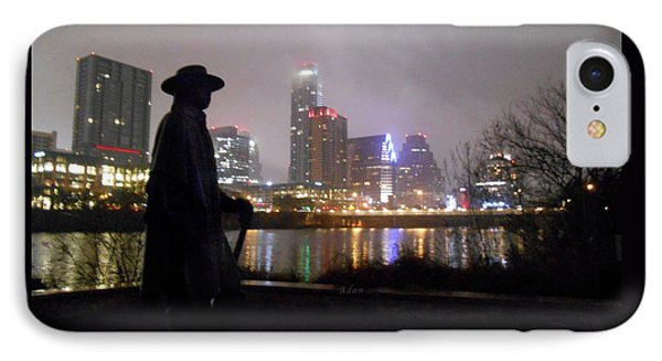 Austin Hike And Bike Trail - Iconic Austin Statue Stevie Ray Vaughn - One IPhone Case