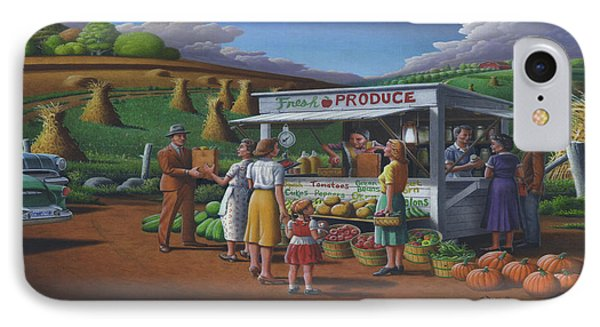 Roadside Produce Stand - Fresh Produce - Vegetables - Appalachian Vegetable Stand - Square Format IPhone Case by Walt Curlee