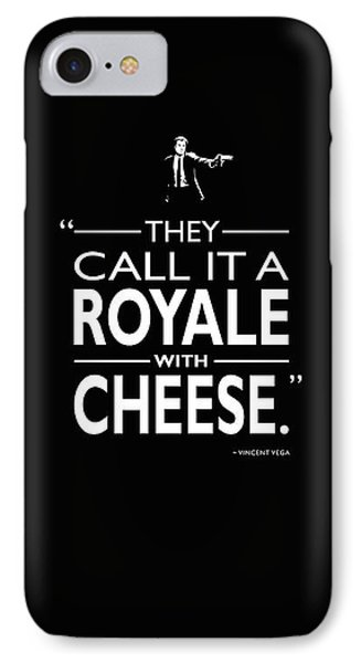 A Royale With Cheese IPhone Case by Mark Rogan