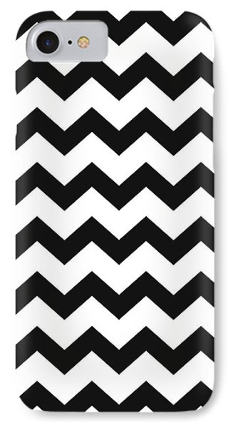 IPhone 7 Case featuring the mixed media Black White Geometric Pattern by Christina Rollo