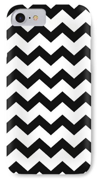 IPhone Case featuring the mixed media Black White Geometric Pattern by Christina Rollo