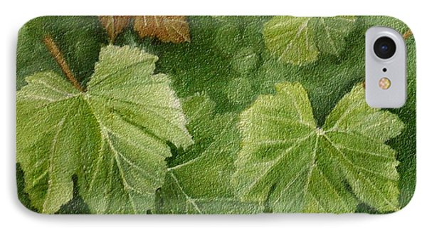 Vine Leaves IPhone Case by Angeles M Pomata