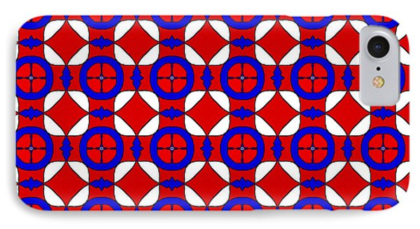 Red White And Blue IPhone Case by Becky Herrera