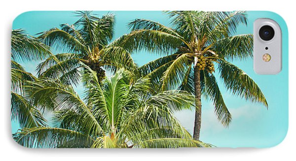 IPhone Case featuring the photograph Coconut Palm Trees Sugar Beach Kihei Maui Hawaii by Sharon Mau