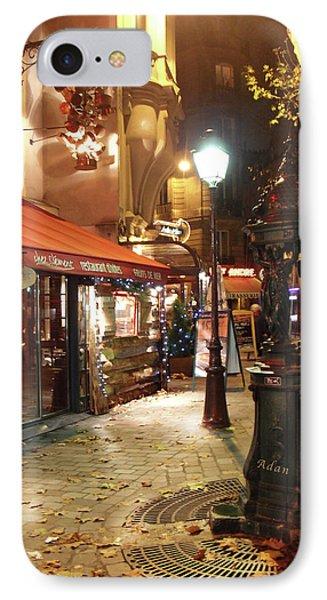Place St Michel To Rue Saint-andre Des Arts IPhone Case by Felipe Adan Lerma