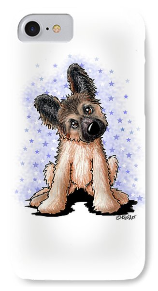Curious Shepherd Puppy IPhone Case by Kim Niles