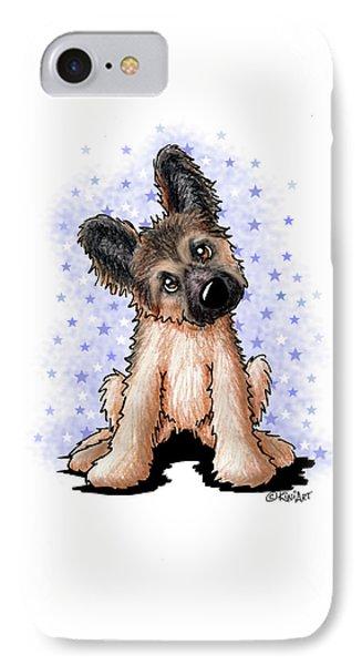 Curious Shepherd Puppy IPhone Case