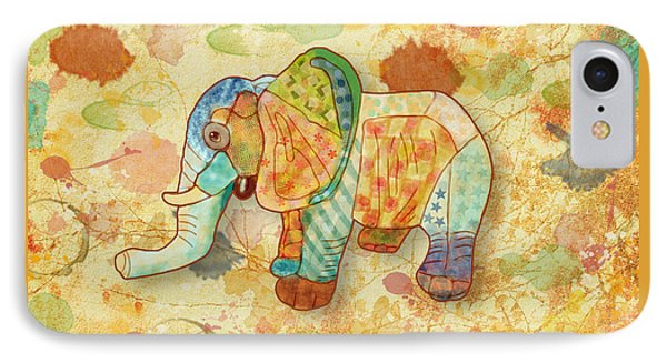 Patchwork Elephant IPhone Case by Angeles M Pomata