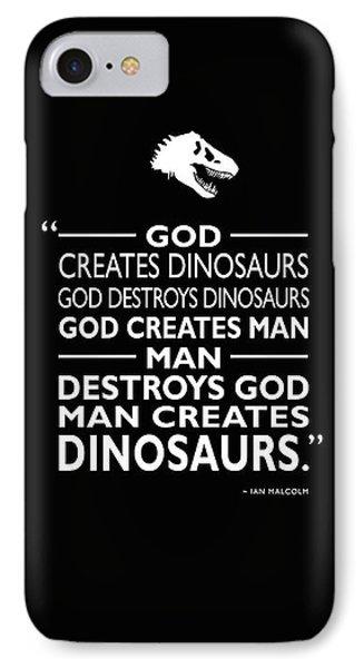 God Creates Dinosaurs IPhone Case by Mark Rogan