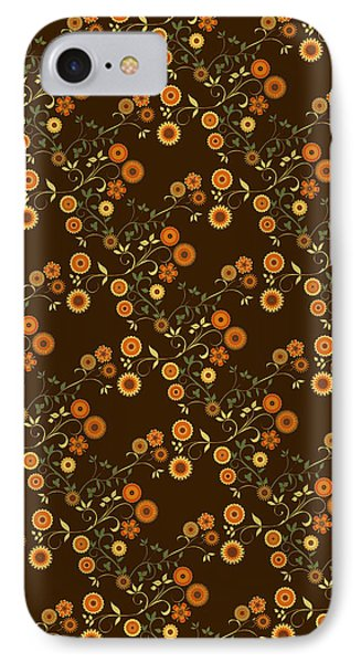 Autumn Flower Explosion IPhone Case by Methune Hively