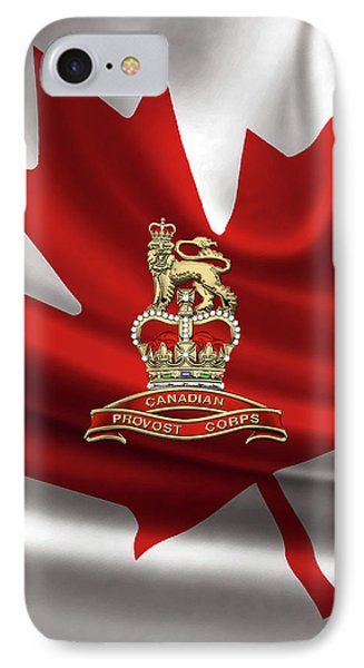 Canadian Provost Corps - C Pro C Badge Over Canadian Flag IPhone Case by Serge Averbukh
