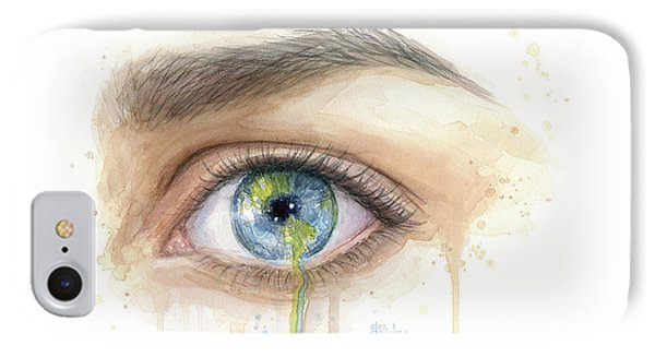 Crying Earth Eye IPhone Case by Olga Shvartsur