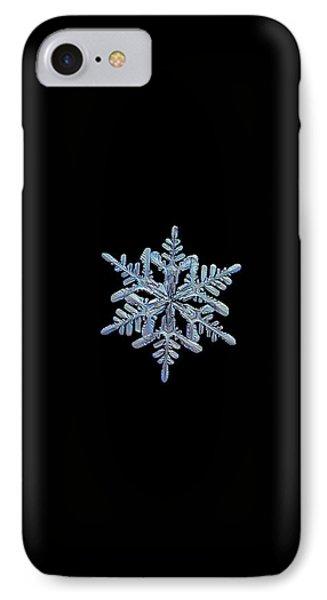 Snowflake Macro Photo - 13 February 2017 - 1 Black IPhone Case