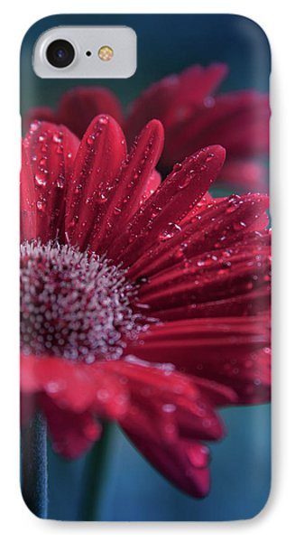 IPhone Case featuring the photograph Gerbera Red Jewel by Sharon Mau