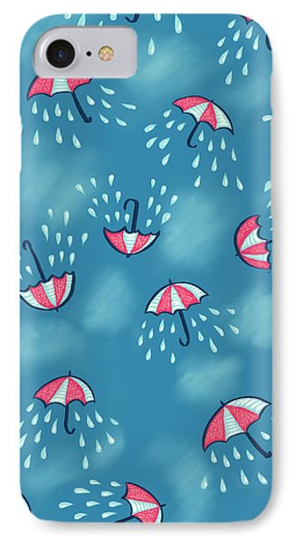 Fun Raining Umbrella Pattern IPhone Case