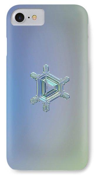 Real Snowflake Photo - Emerald Phone Case by Alexey Kljatov